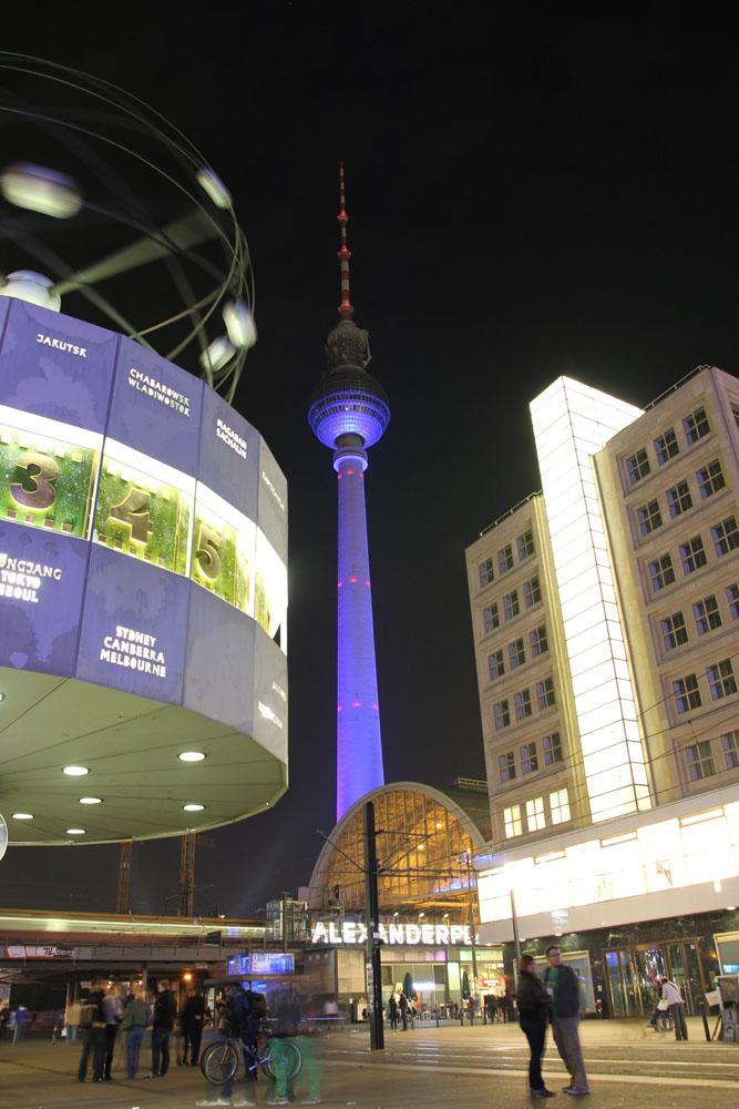 Festival of Lights 2012: Fernsehturm & Weltzeituhr