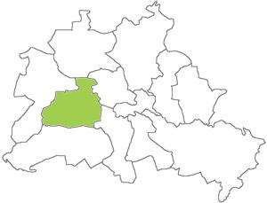 Berlin Karte - Charlottenburg-Wilmersdorf