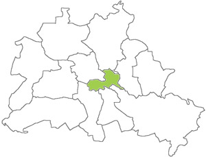 Berlin Karte - Friedrichshain-Kreuzberg