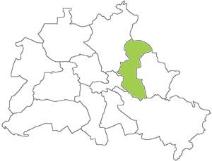 Berlin Karte - Lichtenberg