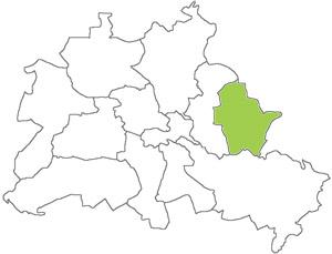 Berlin Karte - Marzahn-Hellersdorf