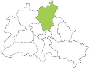 Berlin Karte - Pankow