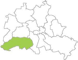 Berlin Karte - Steglitz-Zehlendorf