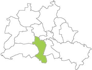 Berlin Karte - Tempelhof-Schöneberg