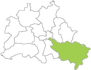 Berlin Karte - Treptow-Köpenick